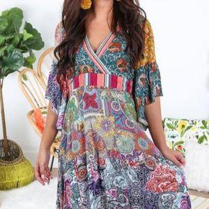 5bcf4299942 Umgee Dresses - UMGEE Plus Size Boho Midi Garden Party Dress